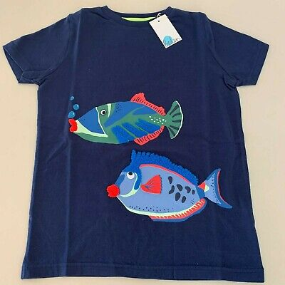 "Mini Boden Exquisite Boys ""FISH"" Shirt. Size 8-10 years. So Comfy and Unique!"