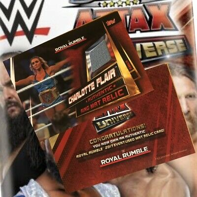 Topps WWE Slam Attax Universe Ring Mat Relic Card Charlotte Flair