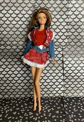Barbie Doll Clothes For Model Muse Body Types Western Skirt Jacket Top Outfit