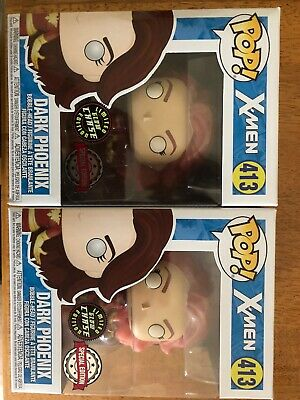 Funko Pop! Marvel #413 X-Men Hot Topic Exclusive Dark Phoenix LE Glow Chase