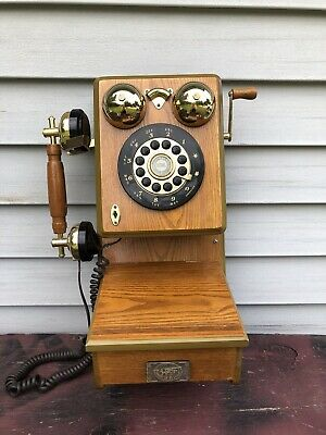 """""""Spirit of St Louis"""" Wall Mount Wood Antique Retro Replica of Rotary phone"""