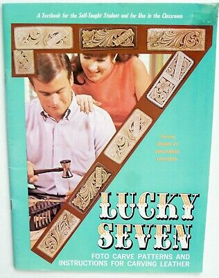 Leather Carve Patterns & Instructions - Lucky Seven - Tandy Leather - 1990