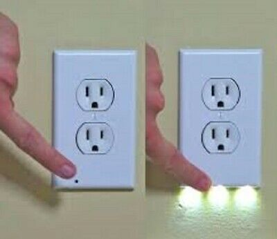 6 Pack Led Wall Plates Outlet Covers Nightlights ** Guidelight ***
