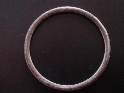 Large 28.5mm Genuine Ancient CELTIC Bronze Ring Money ~600 BC Sandy Patina #5