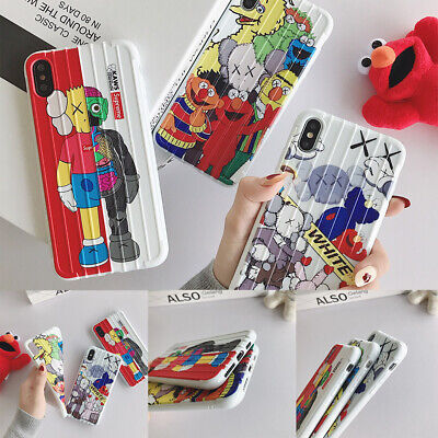 Trend KAWS Pattern Shockproof Ultrathin Non-slip Soft TPU Pphone Case For iPhone
