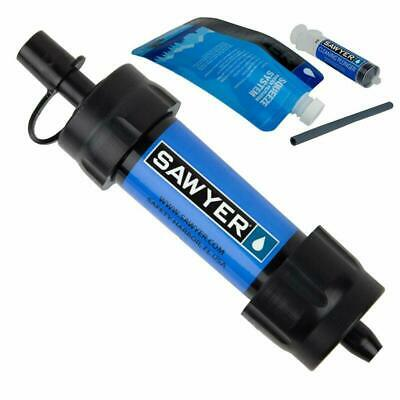 Sawyer Blue Portable Mini Water Filter Filtration System W/ 16 Oz. Pouch! Sp128