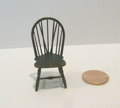 """William Clinger Tiny 1/2"""" Scale Wooden Chair Painted Exquisite Piece"""