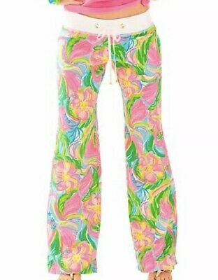 "LILLY PULITZER ""So A Peeling"" Beach Pants Size XS Linen Wide Leg Neon Pink NWT"