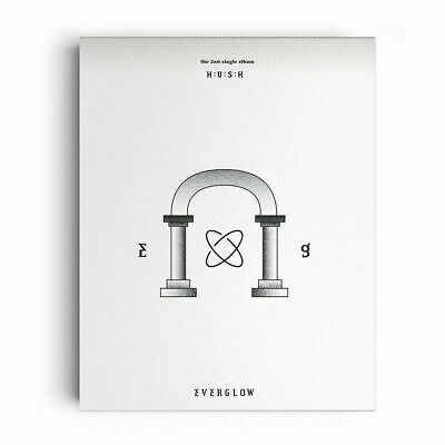 EVERGLOW - HUSH (2nd Single) CD+PHOTOBOOK+P. BENEFIT + POSTER + TRACKING, SEALED