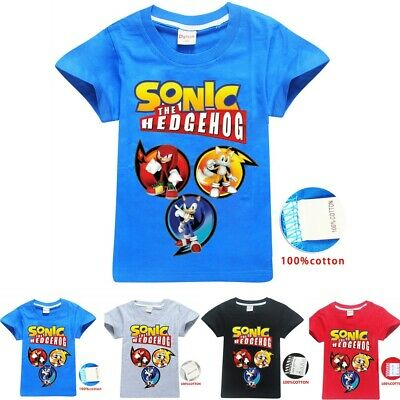 Sonic The Hedgehog Children T Shirt Kids Boys Girls Cotton Top Tee Casual Cotton