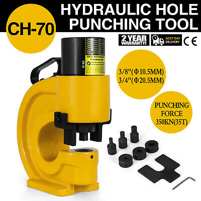 CH-70 Hydraulic Hole Punching Tool Puncher 35T Flat Copper Single Oil Return