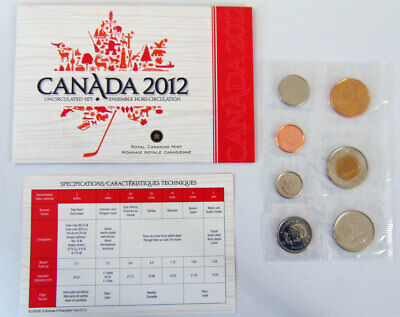2012 CANADA UNCIRCULATRD SET (Last year for the penny)