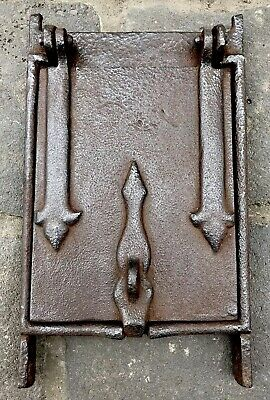 Vintage Antique Cast Iron Hinged Door Letterbox Inspection To Fit Brickwork Melb