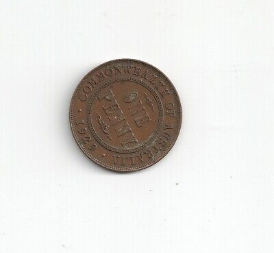Australia KGV 1929 pre decimal penny Very good average condition