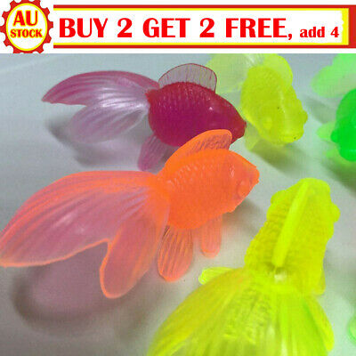 10x Infant Rubber Gold Fish Baby Bath Toys Children Swimming Water Toy Novelty M