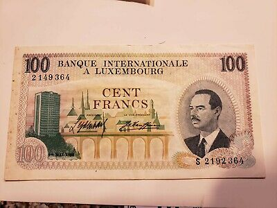 Luxembourg 100 Francs 1968  , P14  , Vf/Xf