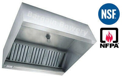 4' FT Restaurant Commercial Kitchen Box Grease Exhaust Hood Type I Hood