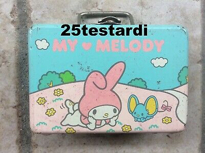 My Melody Sanrio vintage metal little carry case box made in Japan - Hello Kitty