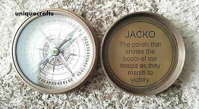 Antique Solid Brass Poem Compass Collectible Replica Pocket Compass Marine Gift