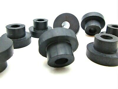 """25 per pack Panel Bushing 1//4/"""" ID Rubber Push-In Bumper.Fits 13//32-7//16/"""" Hole"""