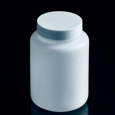 5Pcs 500ml Plastic Wide Mouth Bottle Chemical Reagent Storage Bottles Lab New
