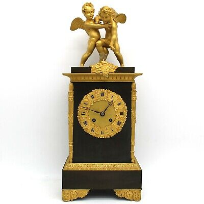 Antique Charles X Pendulum mantel Clock ormolu in Bronze - 19th century