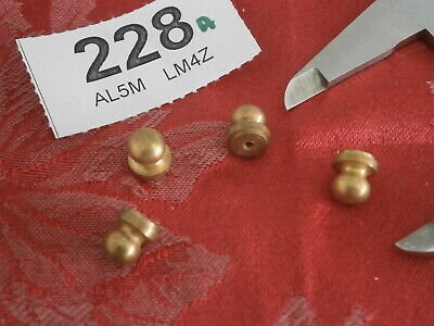 Set of Clock FEET Brass 10mm Tall x 8mm Ball stand fusee parts spares 228A