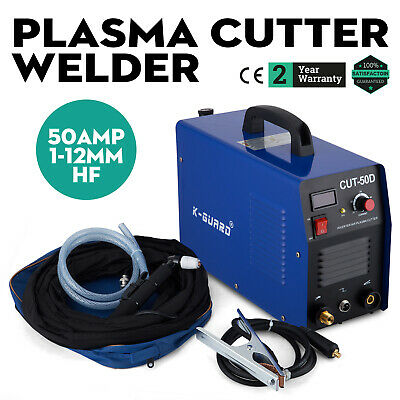 CUT-50D Air Plasma Cutter 50Amp DC IGBT Inverter Portable Cutting Machine UK