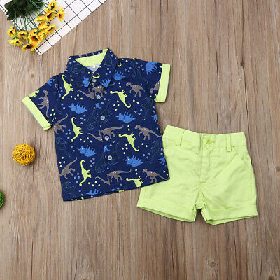 Toddler Kids Baby Boy Clothes Boys Outfits Sets Short T-Shirt + Pants Tops New
