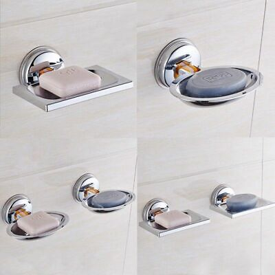 Wall Mounted Bathroom Bath Shower Soap Stainless Steel Holder Dish Square P8O2