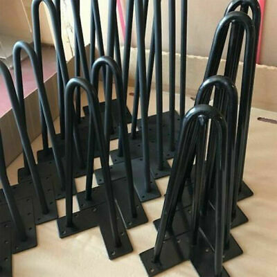 "4x Premium Hairpin Table Legs Coffee Desk Bench Chair 10mm Furniture 4""  to 28"""