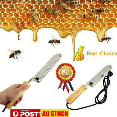 Electric Honey Bee Supply Scraping Extractor Uncapping Knife Beekeeping AU Plug