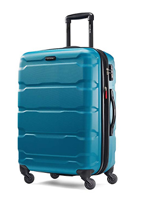 "Samsonite Omni Expandable Hardside PC Luggage Spinner Wheels 24"" Caribbean Blue"