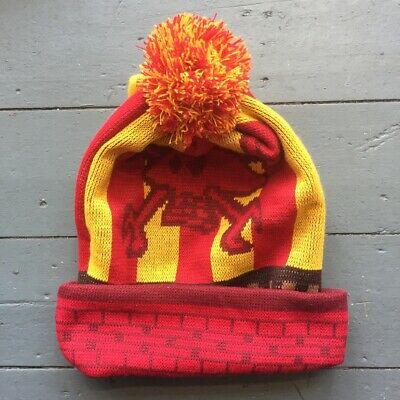 Vintage Guy Martin Proper Head Gasket Bobble Hat Red And Yellow
