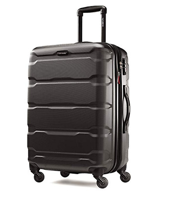 "Samsonite Omni Expandable Hardside PC Luggage With Spinner Wheels 24"" Black"
