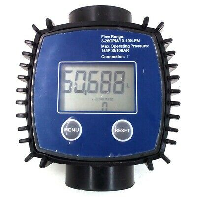 5X(K24 Adjustable Digital Turbine Flow Meter For Oil,Kerosene,Chemicals,Ga J6K2)