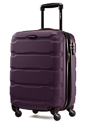 "Samsonite Omni Expandable Hardside PC Luggage With Spinner Wheels 24"" Purple"