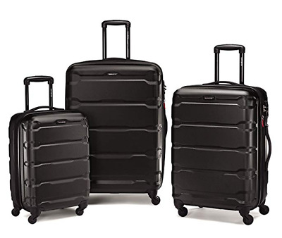 Samsonite Omni Expandable Hardside PC 3 Piece Set With Spinner Wheels Black
