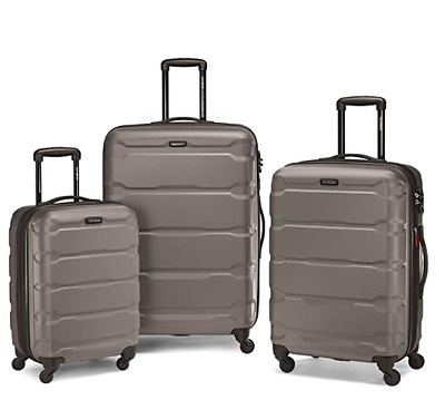 Samsonite Omni Expandable Hardside PC 3 Piece Set With Spinner Wheels Silver