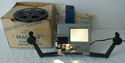 Sync Lite MACH-8 Super 8 Film Splicer Editor Viewer Tested & Working Boxed