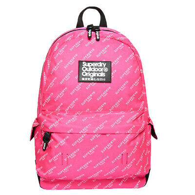 Superdry NEW Women's Print Edition Montana Backpack - Pink AOP BNWT