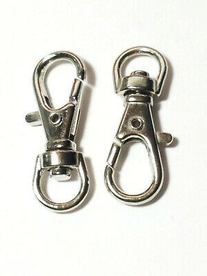 3Pcs. Metal Lobster Clasps Swivel Trigger Clips Lanyard Snap Hook Claw Key Ring