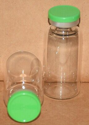 USP 20 mL Clear Sterile Vial With Meadow Green Plain Flip Top Seal Any Qty.