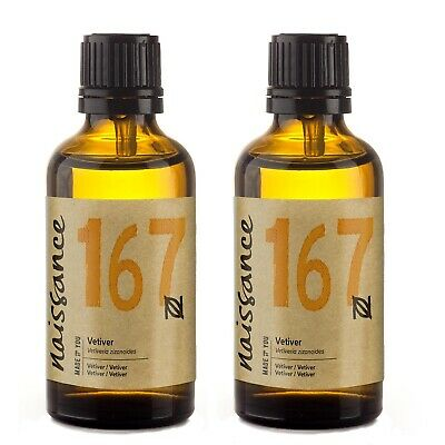 Naissance Vetiver 100% Pure Essential Oil 100ml (2x50ml) Aromatherapy Wholesale