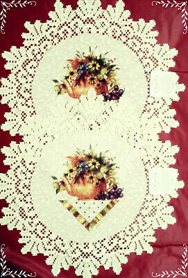 Abundant Blessings Doilies 15 Inch Round  Ecru Set Of (2) Heritage Lace