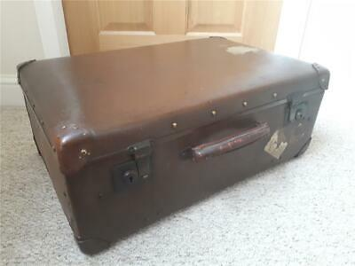 Vintage  Suitcase Wooden frame fabric lined Silk? 1930s? Lovely decorative item