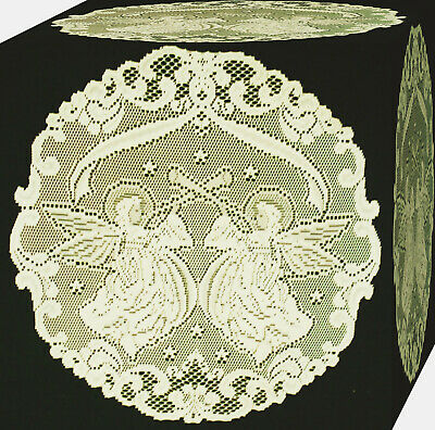 Alpine Angels Doily 20 Inch Round Ivory Set Of (2) Heritage Lace