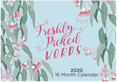 Freshly Picked Words - 2020 Rectangle Wall Calendar 16 Months by IG Design (B)