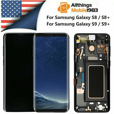 For Samsung Galaxy S8 S9 Plus S8+ LCD Screen Replacement Frame Digitizer Display