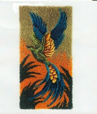 PHOENIX FLIGHT LATCH HOOK RUG KIT, LARGE, from UK Seller, BRAND NEW